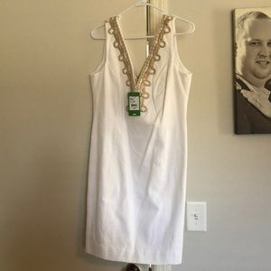 Gorgeous white Lilly Pulitzer Bentley shift dress